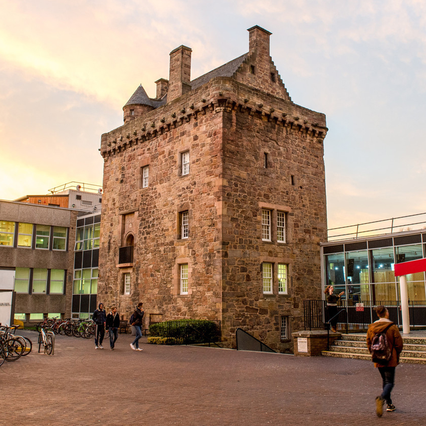 Image of Edinburgh Napier University's Merchiston Tower building.