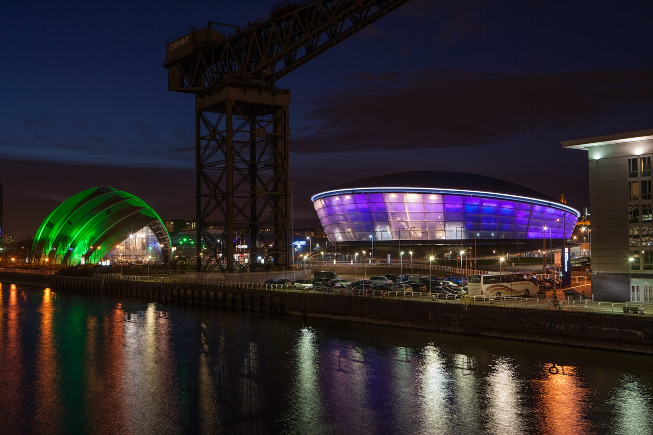 Glasgow SSE Hydro & Armadillo by night