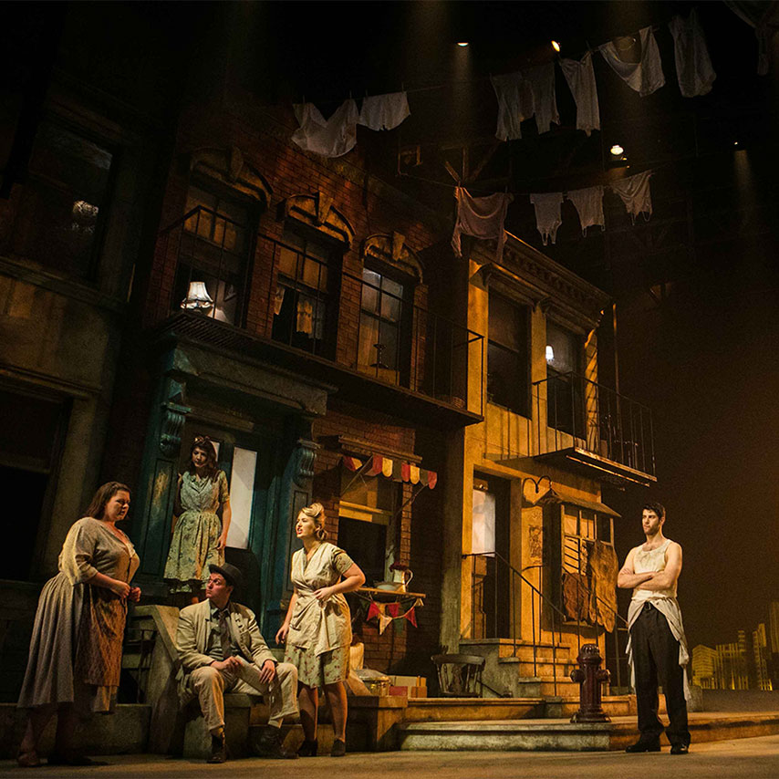 Image of a scene from a production at the Royal Conservatoire of Scotland.